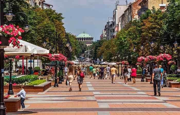 Торговая улица Витоша Софии