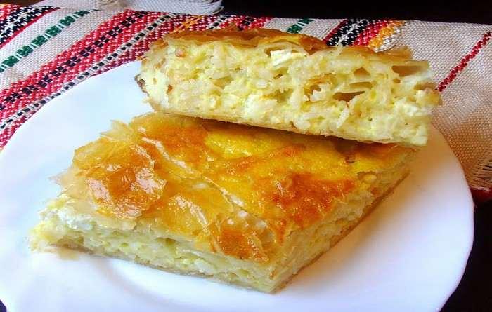 Болгарская кухня Пирог Баница