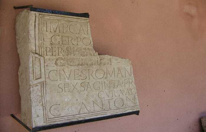 Сексагинта Приста - римская надпись