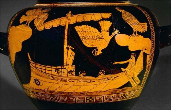 Ваза с кораблем Одиссея