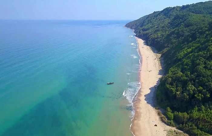Чистый пляж Болгарии Иракли