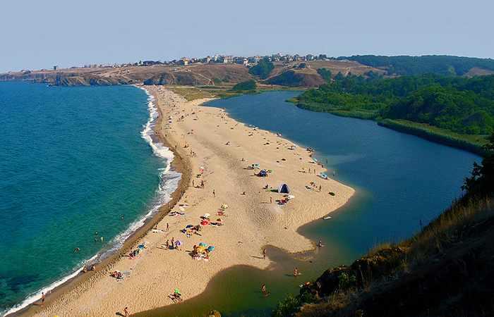 Красивые пляжи Болгарии Устье