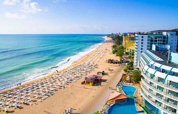 Пляж в Болгарии Золотые пески