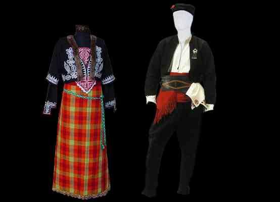 Народные костюмы Родопского фольклорного района
