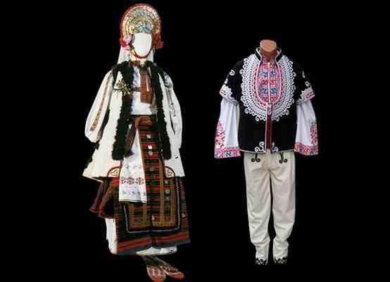 Народные костюмы Шопсккого фольклорного района