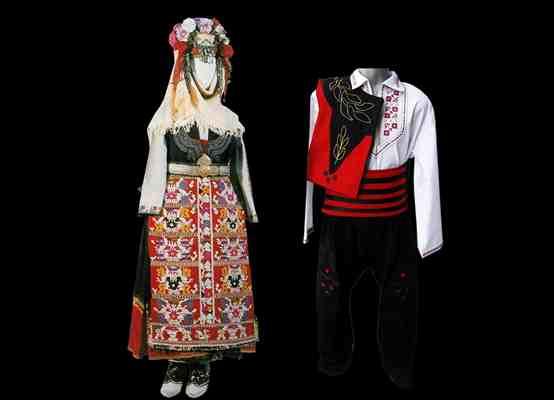Народные костюмы Фракийского фольклорного района