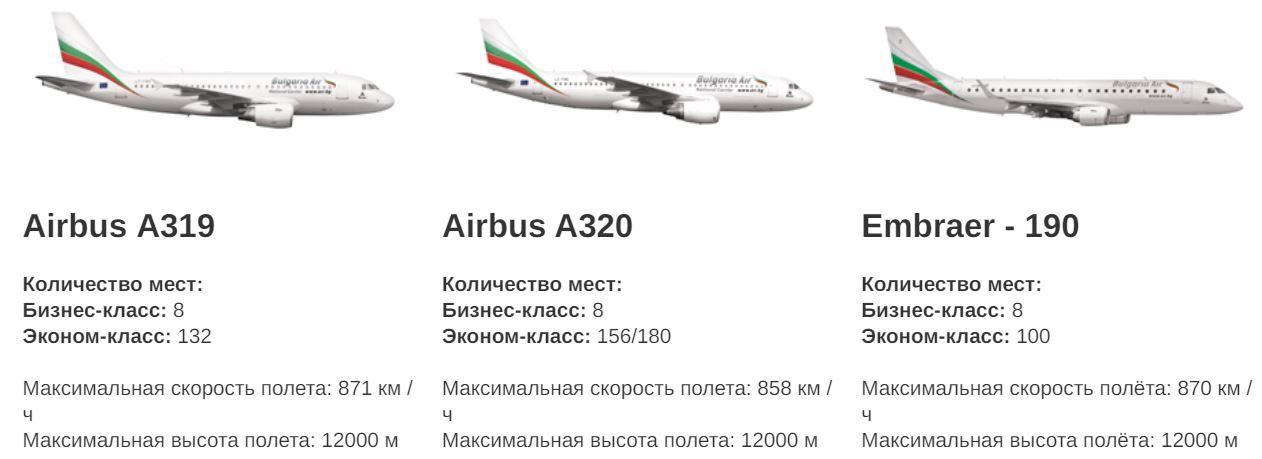 Bulgaria Air флот
