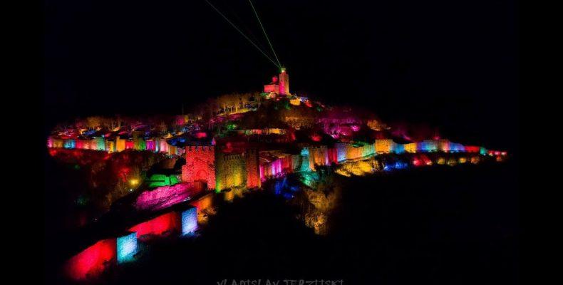 Лазерное шоу в городе Велико Тырново – Царевец